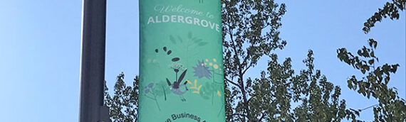 New Spring banners Up in Aldergrove